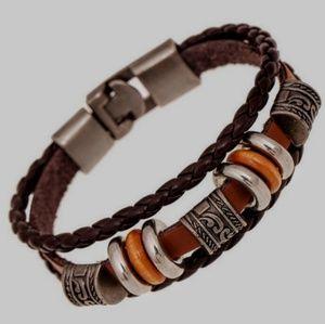 Vintage retro genuine leather bracelet